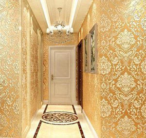 Modern Damask Wallpaper Wall Paper Embossed Textured 3d Wall Covering For Bedroom Li qylIMP dh_niceshop