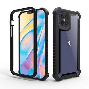 لسامسونج a02s a12 a32 a42 a52 a72 iphone 12 11 برو xs ماكس xr 7 8 زائد tpu واضح الاكريليك مدافع حالة الجسم الكامل لينة ماتي إطار قذيفة