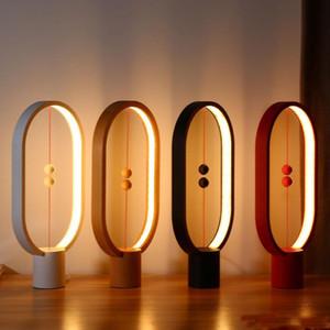 Più nuovo Heng LED Bilanciata Lampada Della Luce Notturna USB Powered Home Decor Bedroom Ufficio notte Lampada notturna Novel Light Christmas Geart Gear Light Frence