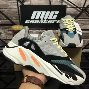 Üst Kalite Dalga Runner Kanye West 700 v2 Katı Gri Mıknatıs Teal Karbon Mavi Basamak ayakkabı erkekler Kadınlar 3M Statik Yansıtıcı Açık Spor Ayakkabı