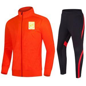 FC Nantes Мужская куртка Tracksuit И Pant тренировочных костюмов Открытых Спортивные Беговой Wear Взрослого Детский футбол наборы