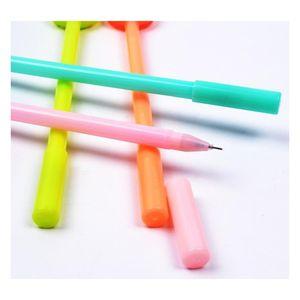 DHL Donuts в форме гелевая ручка конфеты цветные 4 цвета мультфильм маркер на палочке канцелярские принадлежности для офисных школ студентов Jllmjf Lajiaoyard