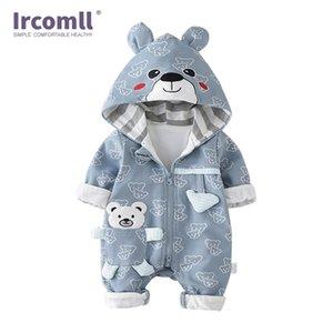 IRCOMLL infantile baby pagliaccetti in cotone imbottito addensare neonato ragazzi ragazze vestiti unisex kid tutesuits autunno cartoon orso toddler T200706