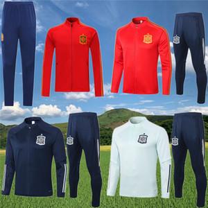 2020 2021 İspanya POLO ceket eşofman futbol 20 21 ANSU FATI OYARZABAL RODRI Traoré futbol Survetement spor giyim seti eşofman