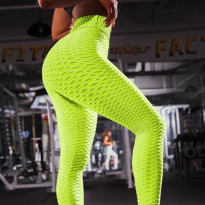 Sports Leggings Women High Waist Pants Push Up Gym Fitness Leggings Ladies Fashion Jacquard Trousers 2020 New Slim Pants