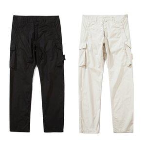 21ss Badge Patches Mens Track Topstoney Pant Letters Design Fashion Jogger Cargo Pants Pants Zipper 90812#