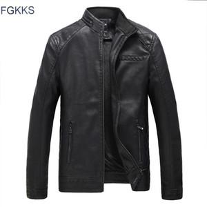 FGKKS Brand Motorcycle Giacche in pelle Uomo Autunno e inverno Abbigliamento in pelle Abbigliamento Uomo Giacche maschile Business Cappotti casual
