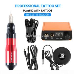 Professional Tattoo Rotary Pen Mini Tattoo Kit Machine Pedal Set Tattoos Supplies Accessories Hot Sale-B7