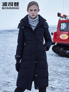 BOSIDENG neue Frauenbewegung Winter große reale ful Kragen Samt Daunenjacke mit Kapuze extrem langen Mantel coldB90142804V 201019