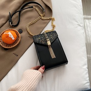 Autumn Fashion Chain 2020 and Winter New Mini Mobile Phone Lady Shoulder Sequin Messenger Bag