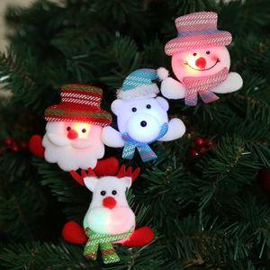 Medaglia Badge LED di Natale Spille Christmas Snowman Spilla per bambini di Natale Accessori spilla distintivo delle decorazioni di Santa SN1966