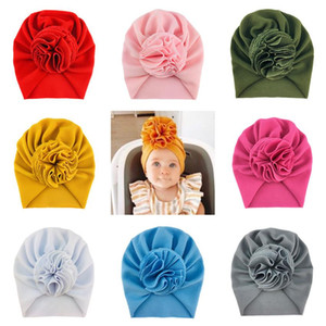18 Colors Cute Big Bow Hairband Hats Baby Kids Girls Toddler Elastic Caps Sunflower Turban Head Wraps Bow-knot Hair Accessories