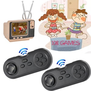 Retro mini handheld tv console video games for nes games with 2 wireless controllers 108 different av out