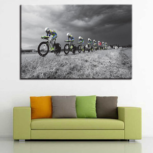 Canvas Paintings Wall Art Prints Piece Pcs Cross-Country Bicycle Posters Mountain Bicycle Pictures Sports Home Decor Frame