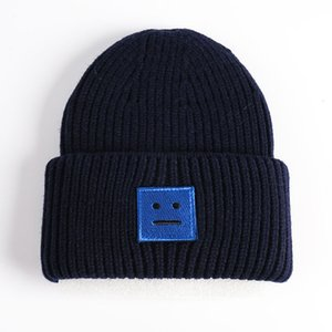 20Acne Studios Smiling face Beanie Skull Caps knitted Cashmere Eye Warm Couple Lovers Acne Hats Tide Street Hip-hop Wool Cap Adult Hats