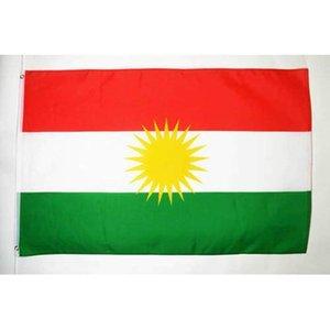 100D Polyester Outdoor Indoor cm libre 150x90 commercial Kurdistan Décoration Drapeau de vente Hot bbyFme hotstore2010