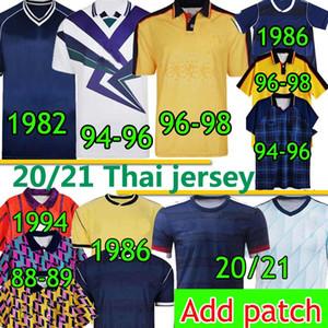 İskoçya Retro Futbol Forması Dünya Kupası Klasik Vintage 1982 1986 1994 1996 1998 Yeni 20 2021 Eve Dight Scotland Erkekler Kids Kits Futbol Gömlek