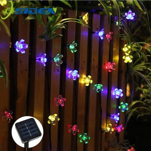 Solar String Lights 20 50 100 200led Blossom Waterproof Outdoor Decoration Lighting Fariy Christmas Lights Wedding Party Garden sqcHpr