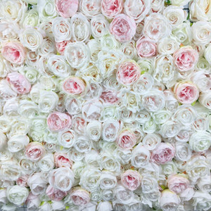 SPR Free Shipping light pink 3D flower wall wedding backdrop artificial flower table runner and centerpiece decorativ floral