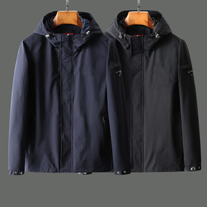 20SS hommes marque veste coupe-vent rétro occasionnels de haute qualité importés Blend poche design à glissière imperméable à capuche automne et l'hiver