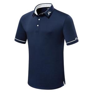 Verano Nuevo Hombres Camisa de golf de manga corta JL Ropa deportiva Al aire libre Deportes Camiseta Golf Envío gratis