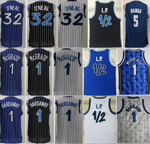 Basquete Mohamed Bamba Jersey Tracy McGrady Shaquille Oneal Oneal O Neal Penny Hardoway LP Penny Anfernee Vintage Costurado preto azul branco