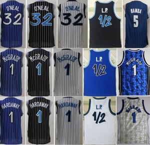 Basketball Mohamed Bamba Jersey Tracy McGrady Shaquille Oneal O Neal Penny Hardaway LP Penny Anfernnee Vintage genäht Schwarz Blau Weiß