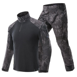 G3 Kamuflaj BDU Üniforma Ordu Combat Gömlek Pantolon Suit Taktik Sniper Giyim Multicam Siyah Av Giyim