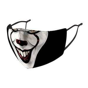 Joker Clown moda gelato maschera vento polvere nebbia e foschia in grado di sostituire il filtro PM2.5 3D stampato maschera volto di lavaggio HHB2312
