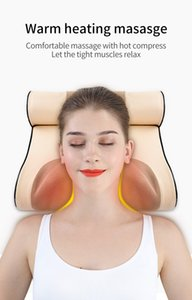 New Neck Massage Pillow Electrical Cervical Traction Massager Hot Compress Relief For Back Shoulder Pain Body Health Care