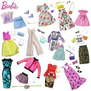 Barbie original Accesorios Ropa manera del equipo de 30cm muñecas Barbie Ropa Juguetes para Niños Niñas Accesorios Doll Dress 1011
