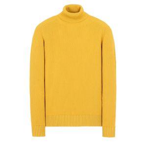 18FW 535C2 TURTLENECK WOOL SWEATER TOPSTONEY Men Women High Collar Sweater Fashion HFLSMY052