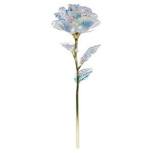 24k folha de ouro rosa flor levou luminoso galáxia dia dos namorados dia dos namorados moda caixa de presente gwb4534