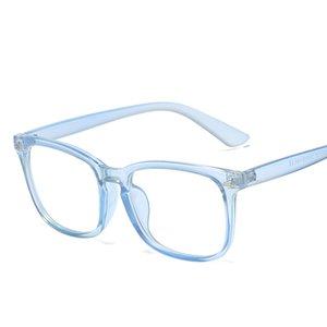 إمرأة نظارات مكافحة الزرقاء عدسة الرجال نظارات المرأة النظارات نمط الأزياء يحمي عيون نظارات إطار واضح عدسة قصر النظر
