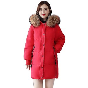 Winter Jacket Women Tide Female Down Parka Fashion Fur Hooded Coat 85% White Duck Down Jacket Thick Warm Women Loose Coat