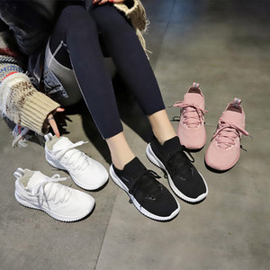 Hot Sale- new Sock Shoes women Spring New Air-permeable Flying Weaving Sports Shoes Female Student Shoes fashion woman sneakers zy357