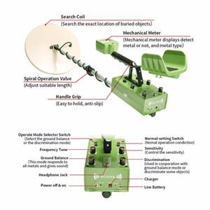 Металлический детектор MD88 Глубокая наземная поиск Земля Зеленый детектор Золотой Детектор Золотой Дисцептор обнаружения Машина Промышленный металлоискатель Продажа