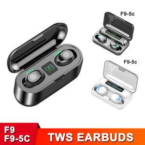 F9 TWS наушники Беспроводная связь Bluetooth V5.0 High Capacity наушники HiFi стерео светодиодный дисплей Earbuds 2000mAh Power Bank зарядный чехол