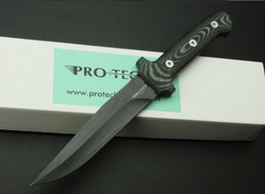 Protech knives 032 Straight knife Fixed blade 9Cr13 blade micarta handle camping outdoor tool Tactical Daggers