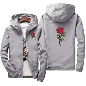 Spring Summer Rose Jacket For Men and Women Coat US Size XS-XXXL 201014