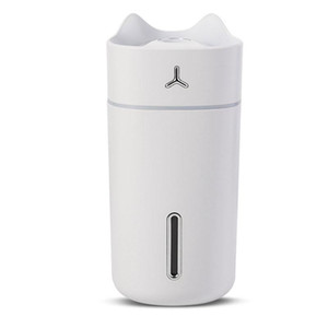 280ML Creative Cat Air Humidifier Aroma Essential Oil Diffuser Mini USB Car Cool Mist Fogger with LED Light for Home