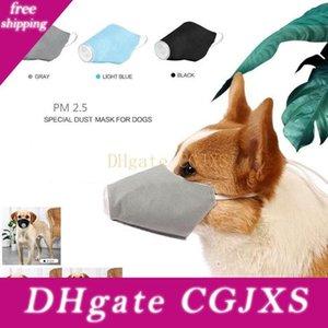Pet Köpek Mesh Yumuşak Nefes Pamuk PM2 Air 3adet Namlu Solunum ile Protectiv Qcavx Malzemeleri Ağız Köpek Pet Yüz Maske .5 Maske