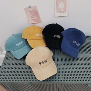 2021 Nueva letra coreana Mujeres de béisbol de algodón Primavera y otoño Ocio Versátil Moda Simple Soft Top Cap Tendencia