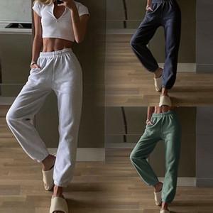 NOUVEAU Mode Taille élastique All-Match Casual Harem Pantalons Puissards Pure Puissards Pantalon Coton Pour femmes