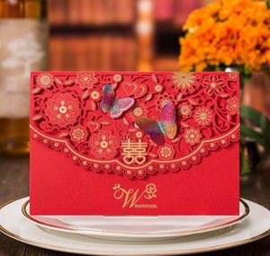 Greeting Cards Event Festive Party Supplies Home Garden Drop Delivery 2021 30 Pieceslot Traditional Overseas Chinese Red Wedding Invitation C