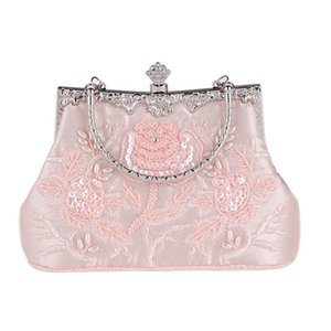 Women Clutch Bags Beads Evening Ladies Beaded Embroidered Shoulder Bag Wedding Party Bridal Handbag New New Fashion