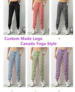 2020 Nova Apprival Womens Canadá Yoga calças estilo Clássico Boa fibra joggings Sports dança empilhadas Calças