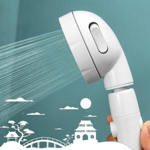 360 degree rotatable 3 Modes shower head with Water Control-Button High-pressure water-saving Rain shower watering
