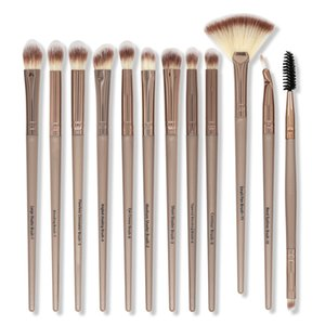 12Pcs Cosmetic Brush Set Professional Eye Shadow Foundation Powder Blush Eyebrow Bronzer BrushesNylon Hair Makeup Tools
