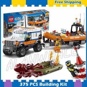 367pcs New City Coast Guard x 4 Response Unit Trailer Ship Boat 10753 Model Building Blocks Toys Bricks Compatible